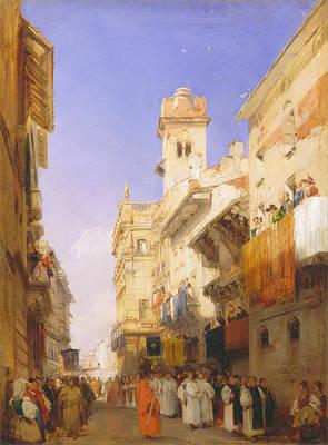 Verona Painting - Corso Sant' Anastasia Verona by Richard Parkes Bonington