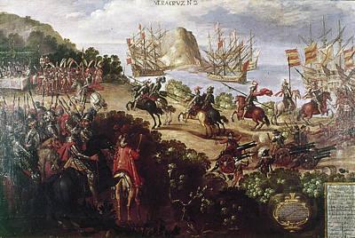 Spanish Galleons Painting - Cortez Landing, 1519 by Granger