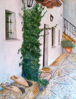 Cortijo Las Duchas Print by Asuncion Purnell