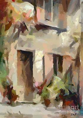 Italy Painting - Cortile Italiano by Dragica  Micki Fortuna