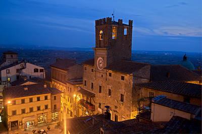 Cortona Tuscany Dusk Art Print by Al Hurley