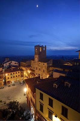 Blue Grapes Photograph - Cortona Tuscany Dusk by Al Hurley