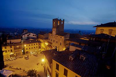 Tuscan Dusk Photograph - Cortona Tuscany Dusk by Al Hurley