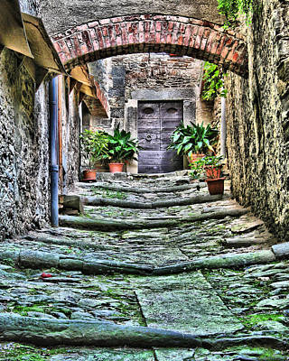 Tuscan Hills Digital Art - Cortona Passageway by Greg Matchick