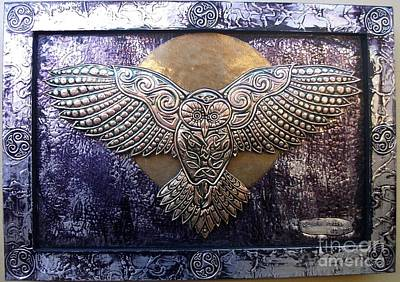 Metal Embossing Relief - Coruja Celta by Cacaio Tavares