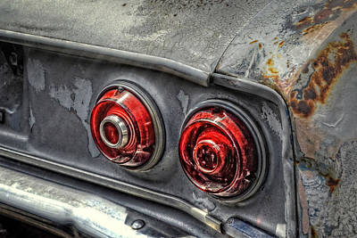 Photograph - Corvair Tail Lights by Ken Smith