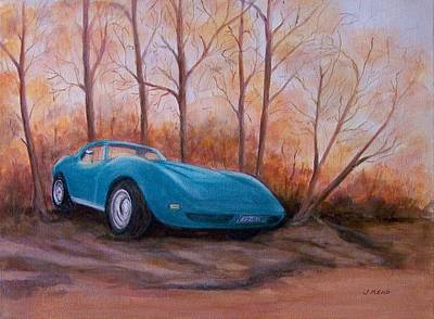 Corvette 1974 Art Print by Jane Landry  Read