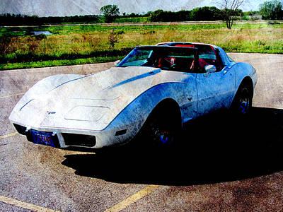 Digital Art - Corvette 2 by Anita Burgermeister