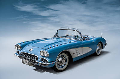 Route 66 Digital Art - Corvette Blues by Douglas Pittman