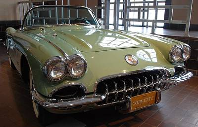 Photograph - Corvette By Chevrolet 1960 by John Schneider
