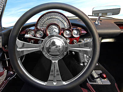 Big Block Chevy Photograph - Corvette C1 - In The Driver's Seat by Gill Billington