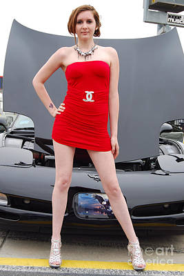 Photograph - Corvette Cutie by Mark Spearman