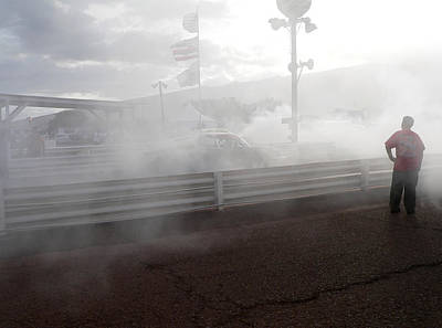Photograph - Corvette Drag Racer Burnout by John Orsbun