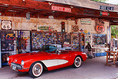 Photograph - Corvette Drive Rt 66 by Fred Larson