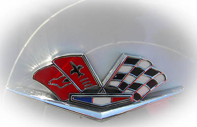 Photograph - Corvette Emblem by Christy Usilton