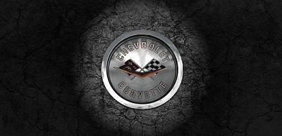 Photograph - Corvette Emblem by Kristie  Bonnewell