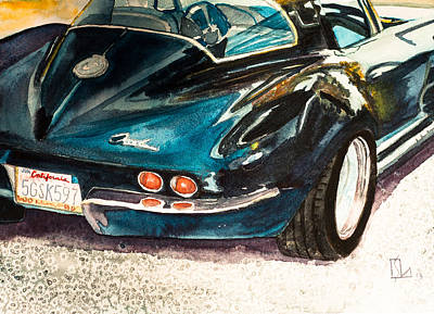 Painting - Corvette by Lee Stockwell