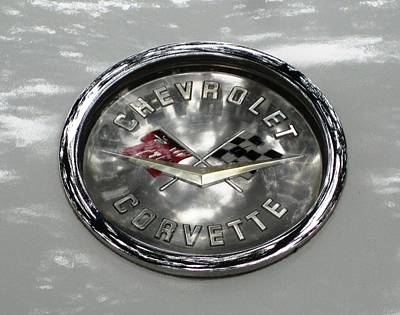 Photograph - Corvette Logo by Robert Margetts