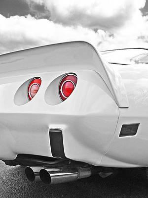 Classic Corvette Photograph - Corvette Rear Lights by Gill Billington