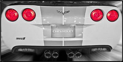 Corvette Rear View Art Print