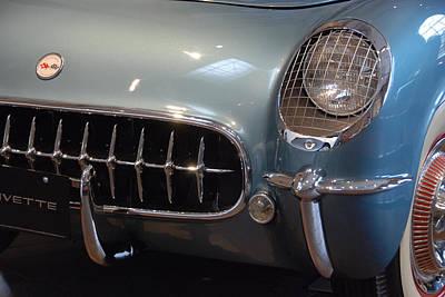 Photograph - Corvette Roadster 1955 by John Schneider
