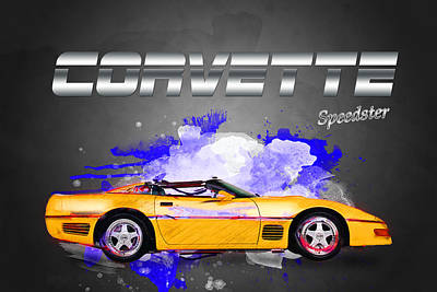 Mixed Media - Corvette Speedster by Andre Voss