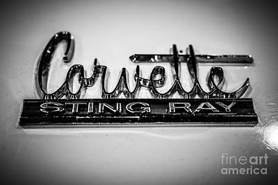 Corvette Sting Ray Emblem Art Print by Paul Velgos