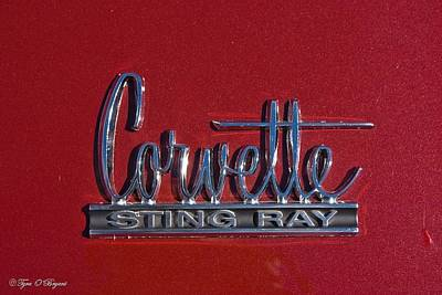 Photograph - Corvette Sting Ray Emblem  by Tyra  OBryant