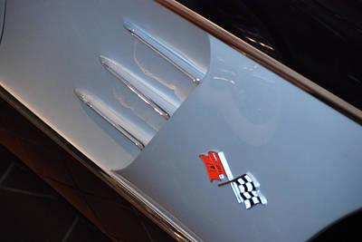 Photograph - Corvette Trim 1958 by John Schneider