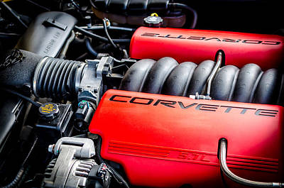 Photograph - Corvette Under The Hood by David Morefield