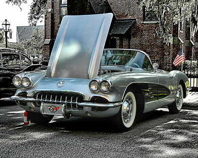 Art Print featuring the photograph Corvette by Victor Montgomery