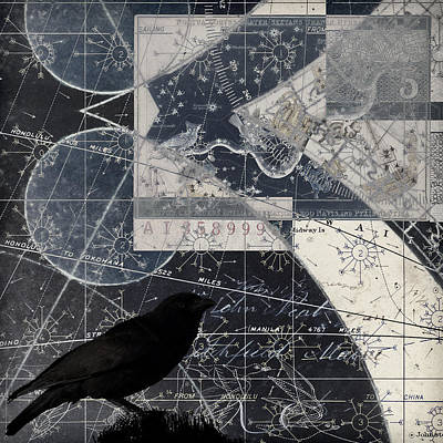 Corvid Photograph - Corvus Star Chart by Carol Leigh