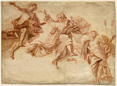 Damian Drawing - Cosmas Damian Asam, German 1686-1739, The Ascension by Litz Collection