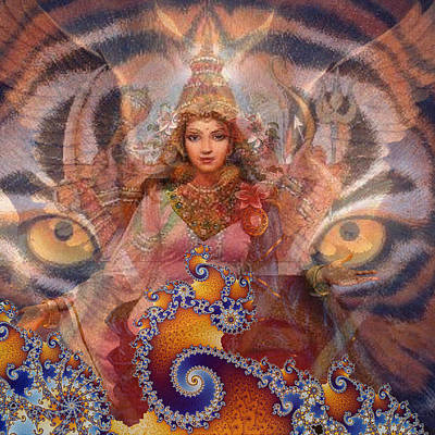 Cosmic Angel Goddess Art Print by Stephen Carver