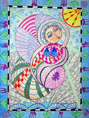 Angel Painting - Cosmic Bliss by Sandra Lewis