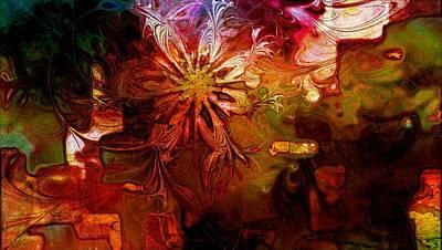 Cosmic Bloom Art Print by Amanda Moore
