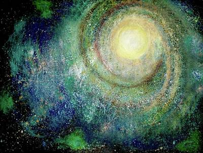 Cosmic Breath Art Print by NARI - Mother Earth Spirit