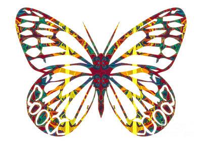 Digital Art - Cosmic Butterfly Abstract Pattern Artwork by Omaste Witkowski