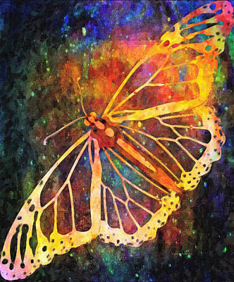 Abstractions From Nature Digital Art - Cosmic Butterfly by Kenny Francis