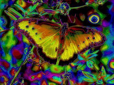 Cosmic Butterfly Art Print by Rebecca Flaig