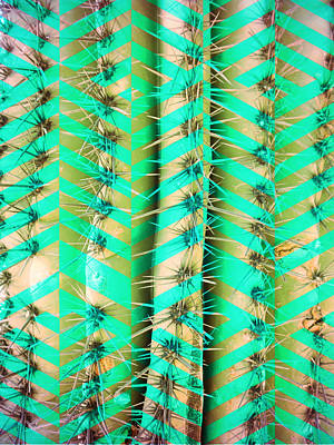 Mixed Media - Cosmic Cactus 10 by Michelle Dallocchio