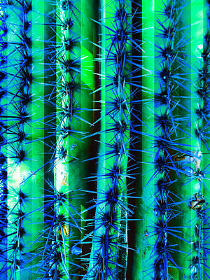 Mixed Media - Cosmic Cactus 6 by Michelle Dallocchio