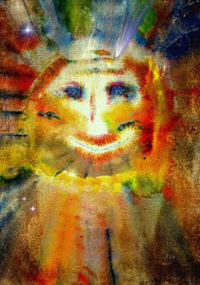 Macrocosm Painting - Cosmic Caricature by Kathy Bassett