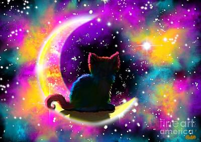 Kitten Digital Art - Cosmic Cat by Nick Gustafson