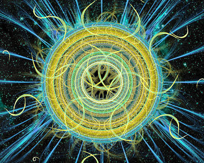 Digital Art - Cosmic Circle Fusion by Shawn Dall