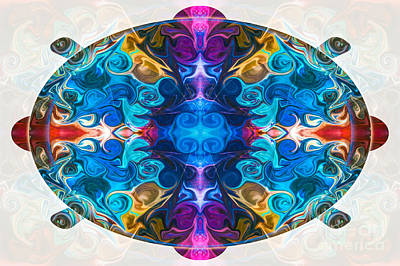 Digital Art - Cosmic Clocks And Ticking Tocks Abstract Shapes By Omaste Witkow by Omaste Witkowski
