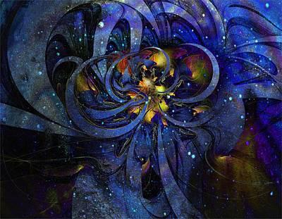 Framed Art Digital Art - Cosmic Cluster by Amanda Moore