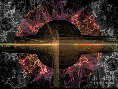 Digital Art - Cosmic Coordinates by Ursula Freer