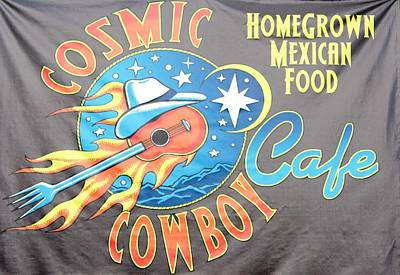 Cosmic Cowboy Cafe Original by Steven Parker