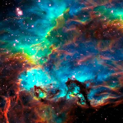 Hubble Telescope Photograph - Cosmic Cradle 2 Star Cluster Ngc 2074 by Jennifer Rondinelli Reilly - Fine Art Photography